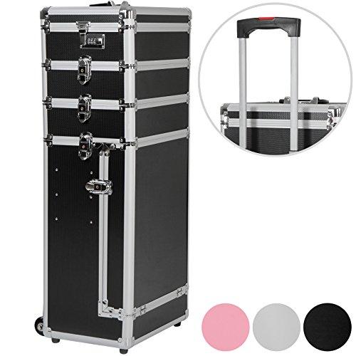 Vojagor Trolley valigia ricostruzione unghie beauty case colore a scelta professionale make up valigia trucco nero