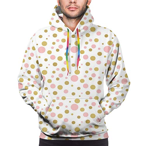 Men's Hoodies Sweatershirt, Blemishes In Small Big and Medium Sizes Golden Yellow Tone,S -
