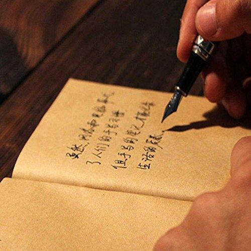 6x Cuaderno Notebook VINTAGE tapa papel kraft marron