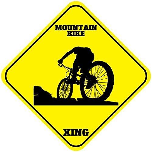 qidushop Aluminium-Schild für Mountainbike, Geschenk für Garage, Auffahrt, Wanddekoration (Metall-buchstaben-wand-dekor)