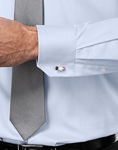 Vincenzo Boretti Herren Hemd Regular Fit Bügelfrei Uni Eisblau