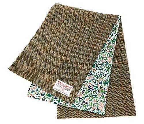 Harris Tweed Damen Schal mit Luxury Liberty Baumwollfutter (Braun)