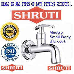 SHRUTI (Shippo) Mestro Model Small Body BibCock / Taps With Wall Flange , Brass Taps Made By 100% Brass Honey Heavy Duty