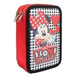 Minnie Mouse–Astuccio di 3piani Imbottitura, 20x 12cm (Cerdá 2701–244)