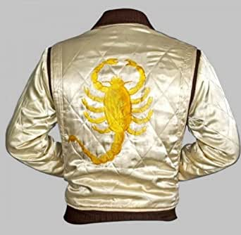 """Drive Trucker White with Golden Embroidery Scorpion Jacket (3XL - Suitable for Chest size 46"""")"""
