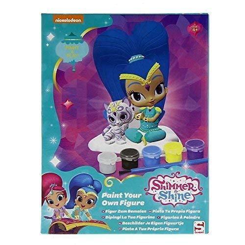 SAMBRO- Shimmer&Shine Set de Figuras de Escayola para Pintar, Color Morado (SHI-4426-ASS)