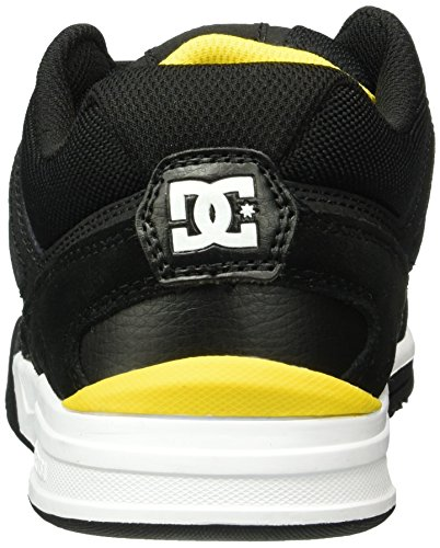 DC Universe Stag 2, Sneaker Basse Uomo Nero (Schwarz (Black/Yellow - BY0))