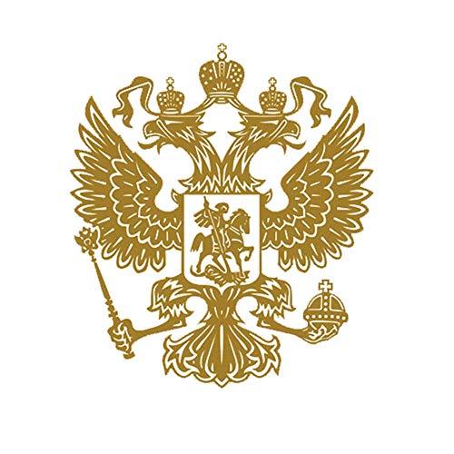 Preisvergleich Produktbild Oce180anYLV Wappen von Russland Auto Body Sticker Aufkleber Russische Föderation Eagle Emblem - Golden