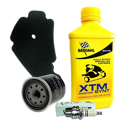 Kit tagliando Bardahl XTM 5W40 filtro olio aria originale candela Beverly 250