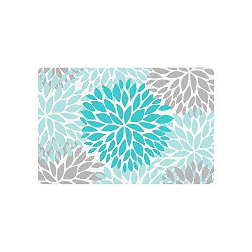 MeiMei2 Dahlia Pinnata - Alfombra para Interior y Exterior, diseño de Flores, Color Azul...