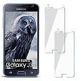 MoEx 2X OneFlow 9H Panzerfolie für Samsung Galaxy J3 (2016) | Panzerglas Display Glasfolie [Tempered Glass] Screen Prot