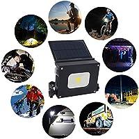 GDEAST Panel Solar Recargable LED Linterna De Camping Emergencia Luz con USB salida 4400 mAh Foco LED 10W al aire libre portátil luz de inundación lámpara de trabajo