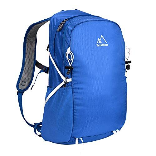 Terra Hiker 20L Rucksack, Ultraleicht Daypack Schulrucksack Tagesrucksack, Wasserabweisend Nylon Wanderrucksack Reiserucksack mit Leichtem Stahlrahmen und Rückennetz (Blau) (Reise Rucksack Nylon)