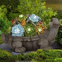 Solar-Schildkröte LED mit AKKU Solarlicht Gartenfigur ca.15cm Solarleuchte