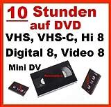 10 Stunden VHS,VHS-C,Digital 8,Hi8, MiniDv,Digitalisieren auf DVD