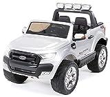 Actionbikes Motors Kinder Elektroauto Ford Ranger - Allrad 4x4 - Touchscreen - 2 Sitzer - 4 x 45 Watt Motor- 2,4 Ghz Rc Fernbedienung - Elektro Auto für Kinder ab 3 Jahre (Allrad Silber lackiert)