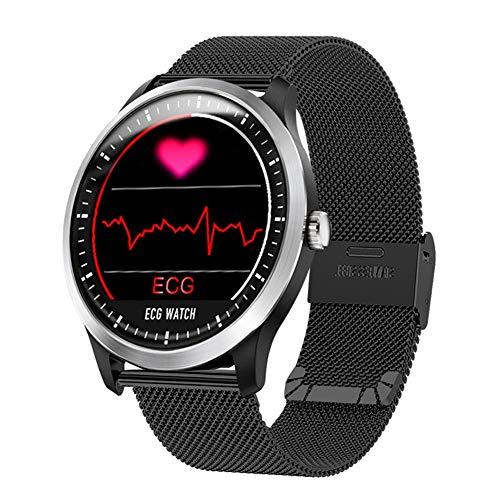 Ekg-anzeige (KDSFJIKUYB Smartwatch Smartwatch mit Elektrokardiograph EKG-Anzeige Holter EKG-Pulsuhr Blutdruck Smartwatch, Farbe als Bildershow)