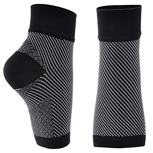 HEALIFTY Fußbandage 1 Paar Kompressions-Knöchelbandage Stützbandage Fußsocken Kompressionsstrümpfe Größe L/XL (schwarz) -