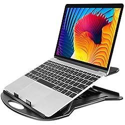 """Supporto Laptop Regolabile con Base Girevole a 360° & 7 Angoli di Inclinazione, Riser per Laptop Adatto a Laptop da 11-15.6"""", Tablet, Notebook con Pad Antiscivolo & Retro Aperto Anti-Surriscaldamento"""