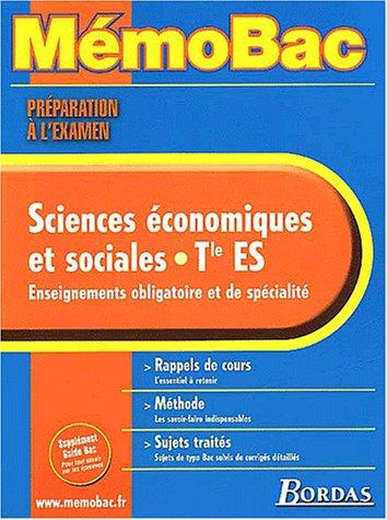 MEMO PREPA.EXAM. ECONOMIE TERM. ES (Ancienne Edition)