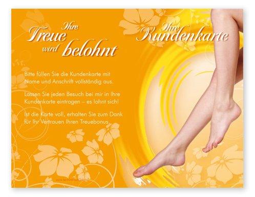 Kundenkarten (50 Stück) für Fußpflege, Kosmetik, Wellness, Pediküre - Bonuskarten