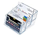 #6: 3 Tier Acrylic Card Holder Stand/Business Card Organizer/Business Card case Holder/Transparent Card Stand for Office