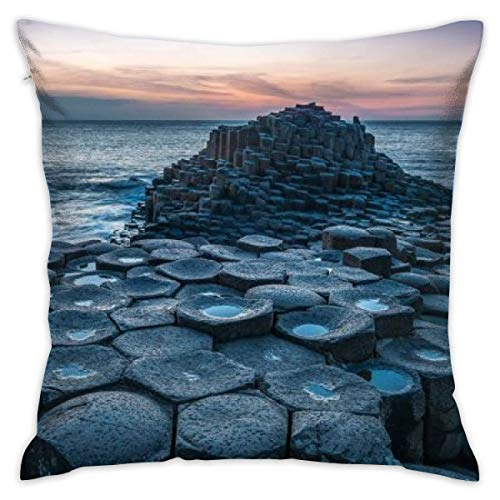 LULABE Giant Causeway Northern Ireland Rock Decorative Throw Pillow Modern Square Form Stuffer for Couch Sofa Or Bed Set Cozy Home Decor Size:20 X 20 Inches/50cm x 50cm
