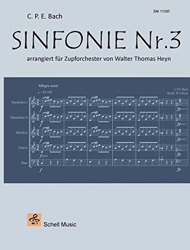 Sinfonie Nr. 3 (C.P.E. Bach): arrangiert für Zupforchester