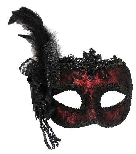 the-good-life-maschera-per-occhi-in-stile-veneziano-con-piume-montata-su-cerchietto-colore-rosso-con