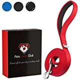Strong Dog Lead | 2-Layer Design Makes This Thick Dog Lead Super Strong | Padded Handle Protects Your Hands From Friction Burn | Beautiful Red Dog Lead Is A Great Gift For First-time Dog Owners | 1,8 m long x 2,5 cm wide