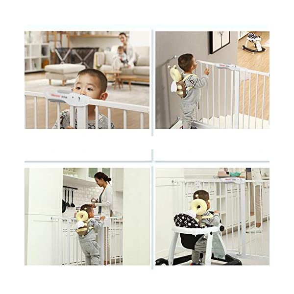 Baby child safety gate bar baby stairway fence pet fence dog fence pole isolation door(74-84cm) AA-SS-Safety Door ✿Adaptable :Convenient walk through design with safety locking feature. ✿Easy one-hand open handle:The gates convenient design allows adults to walk through by simply sliding the safety lock back and lifting. ✿Easy to use: Pressure mount design that is quick to set up. No tools required and is gentle on walls. 8