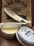 Folding Beard Comb with Beard Balm - Sleek Stainless Steel Folding Beard & Moustache Comb - Pocket Size with Built in Bottle Opener and 100% Natural Beard Butter - Bonus Gift Bag