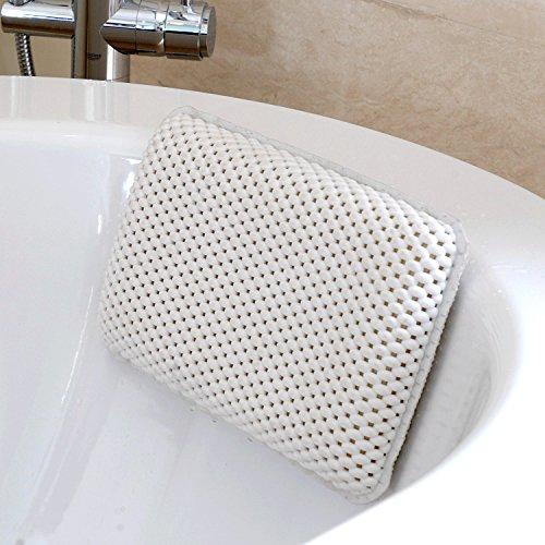 HANKEY Badewannenkissen, Bad- und Spa Kopfstütze mit 8 Saugnäpfen | Nackenkissen Badekissen für Badewanne | Weich & Bequem | Wasserdicht & Anti-Schimmel, Geruchsresistent | Kompakt und Hoher Komfort
