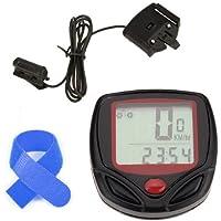 Dcolor 15 Funktion Kilometerzaehler Velometer Wasserdicht LCD Digital-Fahrrad