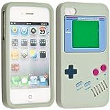 kwmobile Silikon Hülle Case für Apple iPhone 4 / 4S mit Gameboy Design - Handy Cover Schutzhülle in Grau