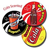 Primary Teaching Services 37 mm 'Mixed Wording' Cola Scented Sticker (Pack of 35)