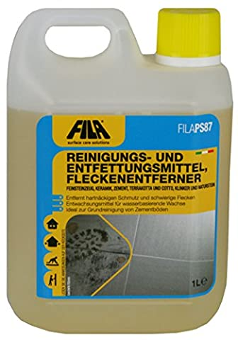 Fila PS/87 Degreasing Stone & Tile Cleaner Wax Remover 1 litre