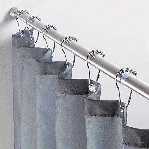 Interdesign 78570eu asta tenda doccia, metallo, argento, 0.1x0.1x0.1 cm