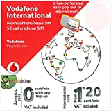 Vodafone Spain International SIM card w/out DATA - FREE BASIC SHIPPING - PLEASE ALLOW 2 DAYS PROCESSING PLUS 3-7 DAYS DELIVERY TO UK & IRELAND.
