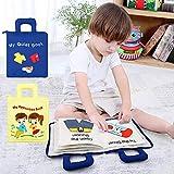 Suppemie Soft-Bilderbuch Stoffbuch Für Babys Spielzeug Pädagogisches Entdeckungsbuch Kid DIY Buch Intelligenz Multifunktionsfrühe, Die Praktischen Fähigkeiten Ihres Babys Ausüben