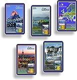 Wendels Kartenspiele Fünferpack: Berge, Flüsse, Städte, Ferne Länder und Länder Europas...