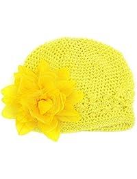 Felicy Bonnet Bébé Fille Garçon Bonnets Coton Crochet Papillons Chapeau  Unisexe Bébé Naissance Tricot Hat Cap 19bb93d8e7e