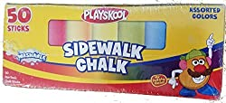 Playskool Washable Sidewalk Chalk Box of 50