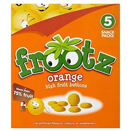 Frootz orange Haute fruits Boutons (5x18g) - Paquet de 6