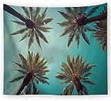 CHLCH Dormitorio con Biancheria da Letto Bohemien Hippie Decorato con tappeti da Meditazione Yoga Mat.Panno Decorativo Appeso Panno Albero di Cocco 8 150X130cm