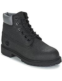 TIMBERLAND 6 IN Premium WP Boot Botines/Low Boots Nino Negro Botas de caña Baja