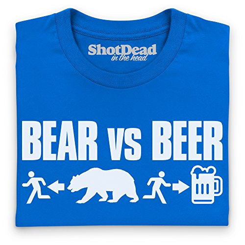 Bear VS Beer T-shirt, Uomo Blu royal