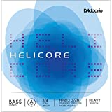D'Addario Bowed Corde seule (La) pour contrebasse hybride D'Addario Helicore, manche 3/4, tension Heavy