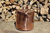 Barattolo portaoggetti contenitore in rame lavorato a mano