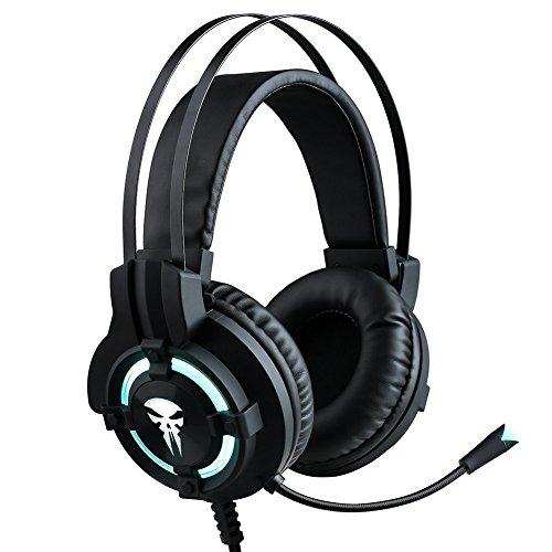 Nozdom Auriculares Gaming micrófono Auriculares Juegos